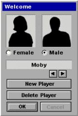 Before a game can start the player must record an identity.
