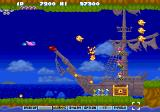 Parodius SEGA Saturn Parodius: ship that still looks somewhat conventional