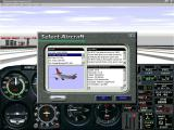 This screenshot shows the flight simulator's drop down aircraft selection menu. The airliners have been loaded but they are not grouped or easily identified from other installed aircraft.
