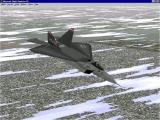 The Virtual Squadron Windows The F22 Lightning II in its prototype livery. This aircraft was not in service when the package was released.