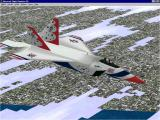 The Virtual Squadron Windows The F22 Lightning II in it Thunderbird livery. This aircraft was not in service when the package was released and represents the 'Future' element of the title.
