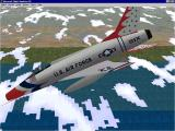 The Virtual Squadron Windows The F100D Super Sabre in Thunderbird livery