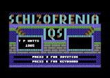 Schizofrenia Commodore 64 Title screen.