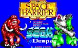 Space Harrier Sharp X1 Title screen