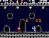 Super Boy 4 SEGA Master System Castle levels are mixed with ghost house themes and are integrated into the regular level flow