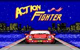 Action Fighter DOS Title screen (EGA)