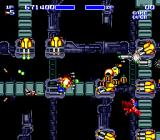 Air Buster Genesis This part of the level scrolls diagonally down and to the right making it even harder to dodge enemy fire