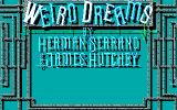 Weird Dreams DOS Title screen (EGA)