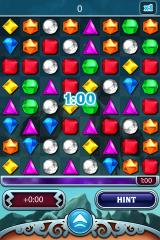Bejeweled 3 iPhone Lightning mode features initially one minute of game time.