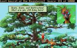 Lost Secret of the Rainforest DOS Up the tree - the mad bird