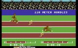 The Activision Decathlon Commodore 64 Jumping over hurdles