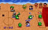 Super Action Ball DOS Playing on the beach. All-reptile team and bikini people