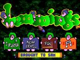 Lemmings SAM Coupé Menu screen