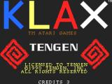 Klax SAM Coupé Title screen