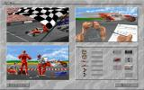 Al Unser, Jr. Arcade Racing Windows 3.x Menu