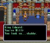 Illusion of Gaia SNES Speaking with a king.
