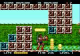 Rastan Saga II Genesis Watch out for the fire jetting out of those blue blocks