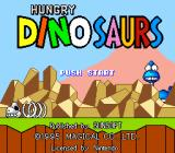 Hungry Dinosaurs SNES Title screen