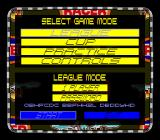 Dirt Racer SNES Main menu