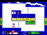 Speedway! / Spin-Out! / Crypto-Logic! Videopac+ G7400 <i>Spin-Out</i> skill selection. The background graphics are exclusive for the Videopac+.
