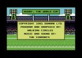 Rugby: The World Cup Commodore 64 Credits.