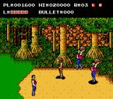 The Adventures of Bayou Billy NES Some of the bad guys carry large rocks.