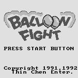Balloon Fight Supervision Title screen.