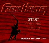 Fiend Hunter TurboGrafx CD Title screen