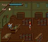 Fiend Hunter TurboGrafx CD Store. Note the realistic pose and animation of the shopkeeper
