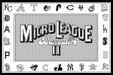 MicroLeague Baseball II Macintosh Title screen 1
