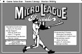 MicroLeague Baseball II Macintosh Title screen 2, credits, and main menu