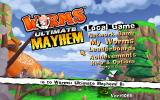 Worms: Ultimate Mayhem Windows Main menu