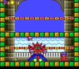 Pop 'n Magic TurboGrafx CD Boss battle on a castle wall. This guy has separate fists!