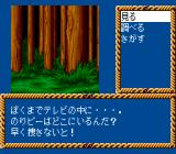 Kagami no Kuni no Legend TurboGrafx CD The hero in the forest. Typical menu
