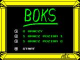 Boks ZX Spectrum Main menu