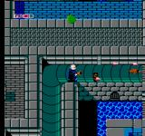 Fester's Quest NES Fighting down the sewer pipe
