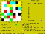 Mam Plan ZX Spectrum A game in progress