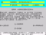 Gasienica ZX Spectrum Instructions