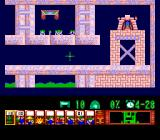 Lemmings TurboGrafx CD Palace level. The little guys are stuck - you need to use two different jobs to complete this