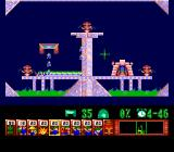 Lemmings TurboGrafx CD Complex contraptions. Trying to climb