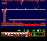 Lemmings TurboGrafx CD Carefully walk over the bridge... or fall through, it's your choice