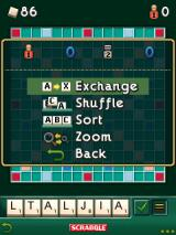 Scrabble J2ME Options during game