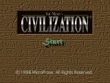 Sid Meier's Civilization PlayStation Main menu
