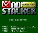 Mad Stalker: Full Metal Force TurboGrafx CD Title screen