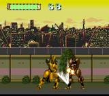 Mad Stalker: Full Metal Force TurboGrafx CD Winston fights with a sword. Spectacular battle!