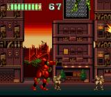 Mad Stalker: Full Metal Force TurboGrafx CD Another urban stage, more small robots