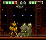 Mad Stalker: Full Metal Force TurboGrafx CD This stage begins with a palette-swapping boss from the first stage!