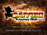 Saiyuki: Journey West PlayStation The title screen