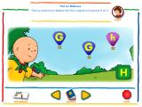 Caillou Alphabet Windows Hot Air Balloons game