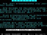 Samotnik ZX Spectrum Instructions